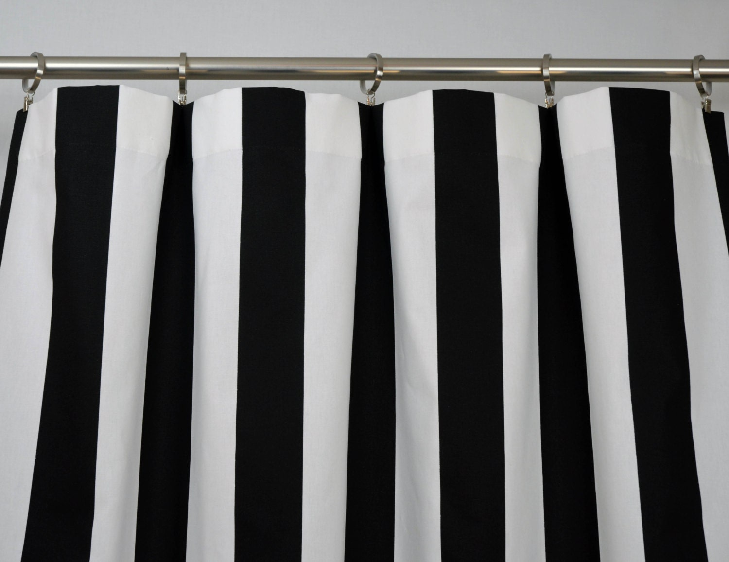 Design Black And White Striped Curtains black white modern vertical stripe curtains rod pocket 84