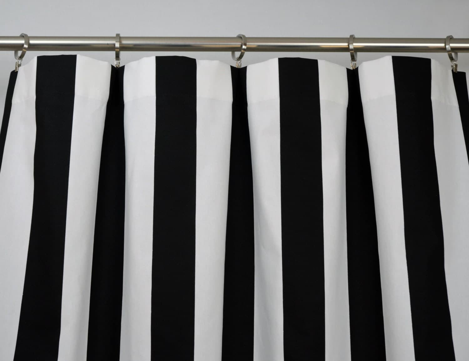 Black White Modern Vertical Stripe Curtains Rod Pocket 84