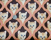 Blue Eyed Kittens - Fabric by the Yard