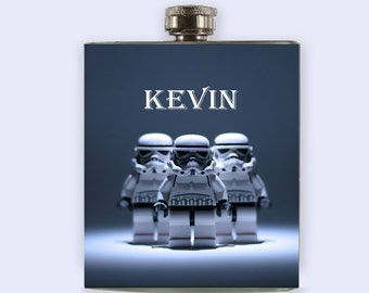 Star Wars, Flask, Storm trooper, personalize,Custom Flask,Star Wars flask
