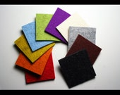 10 color sample - Merino Wool Felt 3mm thick