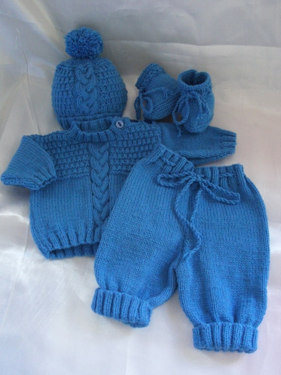 Newborn Baby Boy Coming Home Sweater Pants By
