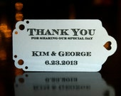 Wedding Favor Tags (50) - Personalized Thank You Tags, Chevalier, Your Colors, Your Letters.Perfect for Wedding or Party Favors