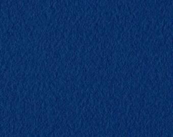 Royal Blue Solid Classic Fleece Fabric