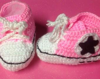 Children's first walker shoes / booties, converse chucks
