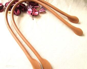 58cm Camel Sewing Microfiber Leather Handle - 1 Pair (includes 2pcs)