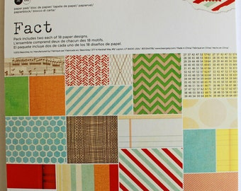 Fact collection by Basicgrey 6x6 paper pack 36 sheets
