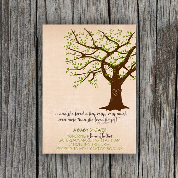 giving tree baby shower invitation by petitpapel on etsy