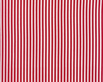 Red and White Stripe by Timeless Treasures