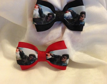 Harry Potter Final Battle Hair Bow - 2 inches