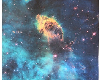 Jet in Carina Nebula 36 x 27 inches (91 x 68 cm) Hubble Photograph Astronomy Cotton Sateen Fabric