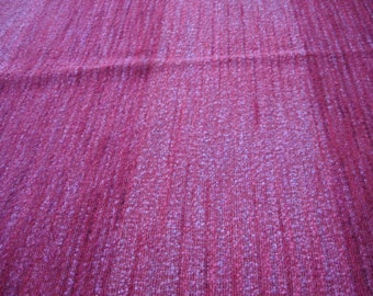 Red Rose Wool Crepe Hand Woven Fabric