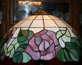 Stained Glass Rose Lamp Shade