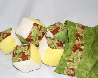 Monkey (8) Soft Block set with bag