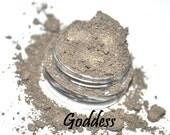 GODDESS taupe brown antique gold vegan loose eyeshadow FULL SIZE in 5 gram jar