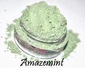AMAZEMINT vegan mint green mineral loose eyeshadow FULL SIZE in 5 gram jar