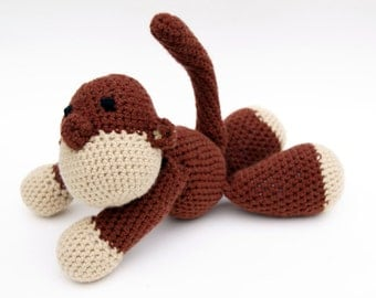 Lucy the Monkey Crochet Stuffed Animal Amigurumi
