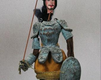 Rare Authentic Antique Old Sicilian Puppet, Marionette, Museum Quality, Collectors item