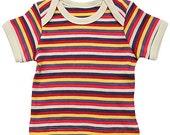 Organic Cotton Multi Stripe Lap T-shirt