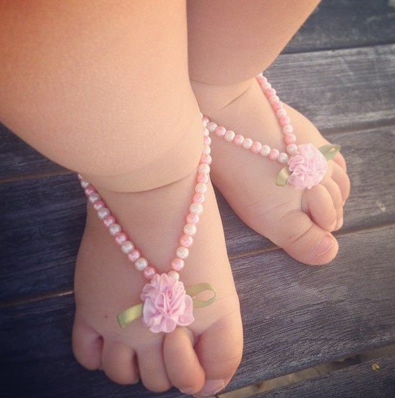 Items similar to Baby Barefoot sandals, baby shoes, baby ...