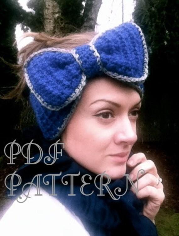Items similar to Crochet PATTERN- Bow Headband LARGE bow ...
