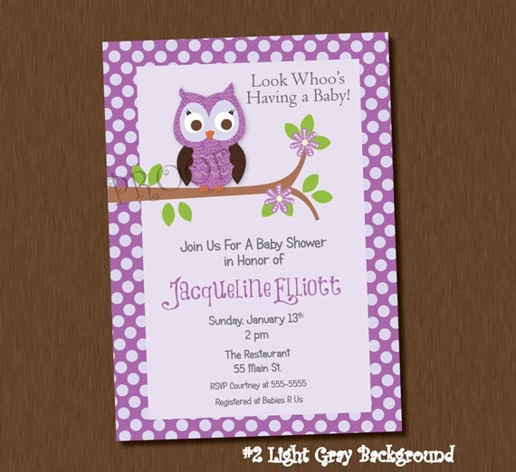Blank Owl Baby Shower Invitations: The Gallery For --> Blank Baby Girl Shower Invitations