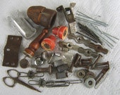 Metal Objects Rusted Hardware Assemblage Steampunk Found Salvage