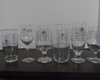 Vintage Indy 500 Glasses 1980's and 1990's