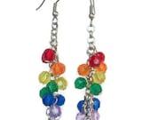 Acrylic Rainbow Dangle Earrings