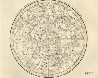 Constellation print, Star, Constellation, Galaxy, Constellation of, Southern Hemisphere, 15
