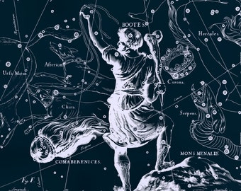 Star map, Constellation, Large canvas art, Constellation of Bootes, 22