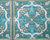 Beautiful Blue Gorgeous Vintage Wallpaper Roll - Retro 1970s Europe - A Full Roll 10m