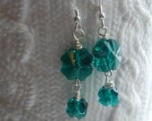 Swarovski Crystal Emerald Clover Earrings for St. Patrick's Day or Anytime