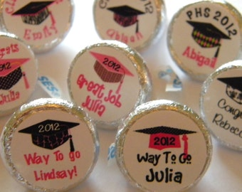 Graduation Favors - Personalized Graduation Hershey Kisses - Graduation Party Favors - Graduation Favors