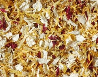 Real petal confetti - yellow wedding confetti - 1 pint