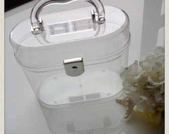 Perspex clutch box with round edges and handle