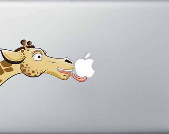 "Giraffe and Apple macbook decal (11"", 13"", 15"", 17"")"