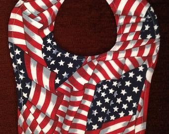Patriotic Country Baby Bib