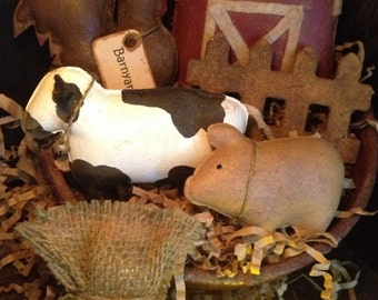 Primitive Barnyard Animal Bowl Fillers