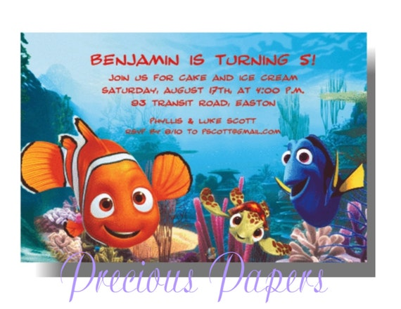 go back gallery for finding nemo baby shower invitations