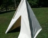 Children child play tent teepee plain canvas