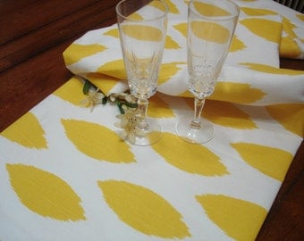 "Yellow Table Runner - Wedding - 13"" X 96 "" Table Cloth - Decorative  Table runner   ""Chipper  "" Yellow Bridal Shower"