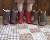 Cowgirl Boots for your 18 inch American Girl Doll (Brown, Red or Tan/Brown to choose from)