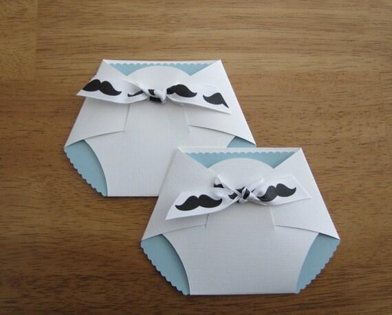 Items similar to Handmade Baby Shower Invitation - Diaper ...