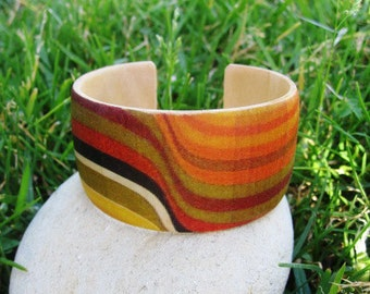 Barbara Brown Waves - wood cuff bracelet