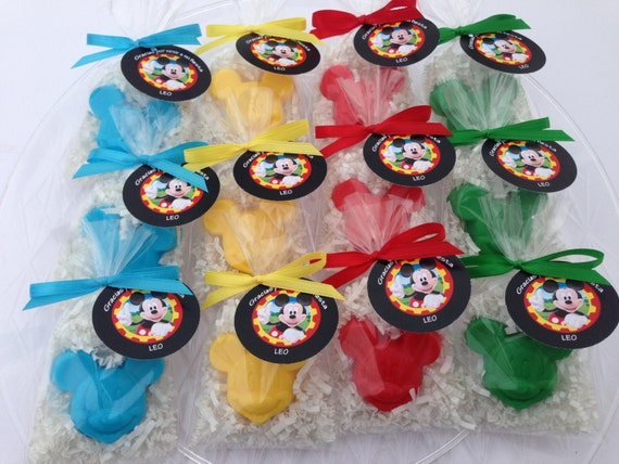 MICKEY MOUSE inspired Soaps,Clubhouse,Party Favors, Birthday party Soaps, Kids Party