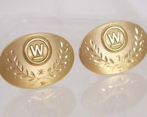 Vintage WestingHouse Electric Corp. cufflinks 30yr service advertising business birthday fathers day