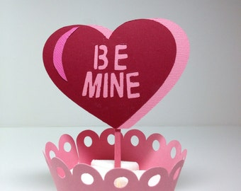 Be Mine cupcake Toppers