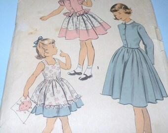 1940s ADVANCE 5544 Little Girls dress pattern Size 6, Breast 24