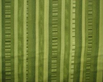 Jungle Jamboree flannel fabric - green vertical stripe - Timeless Treasures - YARD